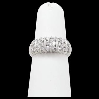 14K Vintage Channel Set Diamond Ring
