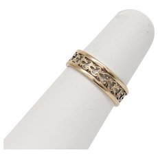 Vintage 5MM 14K Yellow Gold Wedding Band