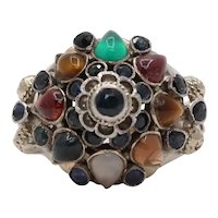 Vintage 18K Yellow Gold East Harmen Multi-Stone Ring