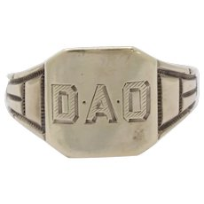 "Vintage Otsby & Barton ""DAO"" Signet Ring"