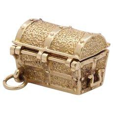 Vintage 9K Yellow Gold English Hidden Treasure Chest