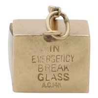 Vintage 14K Yellow Gold Emergency Money Charm
