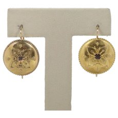 Antique Victorian 18K Yellow Gold Earrings
