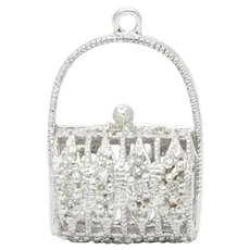 Cute 14K Diamond Purse Pendant