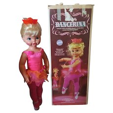1968 Dancerina Doll by Mattel Vintage with box WORKS!