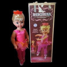 1968 Dancerina Doll by Mattel Vintage with box WORKS!