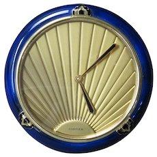 Cartier Lapis and Gilt Desk Clock