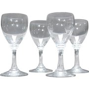 4 Petite, 20th C., Baccarat Crystal Cordials