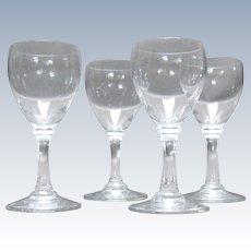 4 Petite, 20th C., Baccarat Crystal Cordials