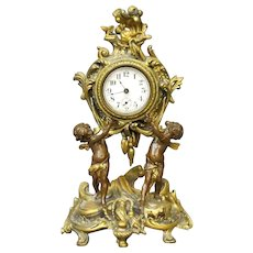 Ormolu Mantle Clock with Putti