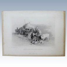 """1800's Engraving, """"Harvest Time"""",  Charles-Georges Lewis (1808-1880)"""
