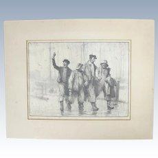 "Gordon Grant (1875-1962) lithograph. ""It's Always Fair Weather"""