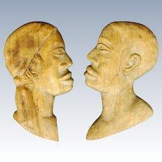 Pair of Haitian Wood Carvings