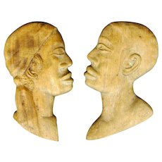Pair of Haitian Wood Carvings