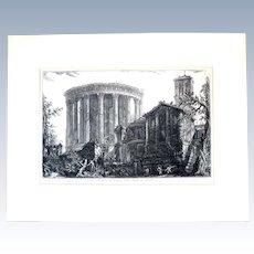 19th Century Piranesi 'First Paris Edition' Etching