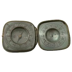 Meiji Period Bronze Toggle Compass