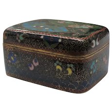 Japanese 19th C. Cloisonne Box