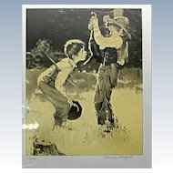 "Signed Norman Rockwell Suite ""TOM SAWYER"" 8 Lithographs"