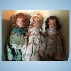Vintage painted bisque Nancy Ann storybook dolls