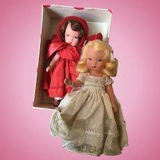 Vintage pair of hard plastic Nancy Ann dolls