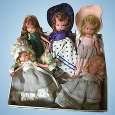 Painted bisque Nancy Ann storybook doll collection