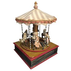 Antique carousel music box