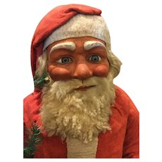 Rare large German Santa candy container