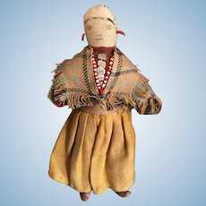 Antique American Indian rag doll