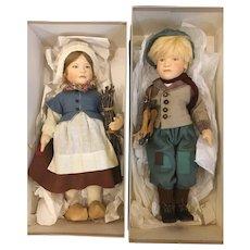 Pair of R John Wright art dolls