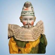 Rare male china doll clown