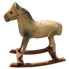 Antique miniature rocking horse toy