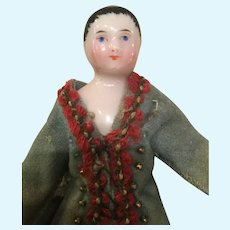 Rare early china boy with wood body for a dolls house