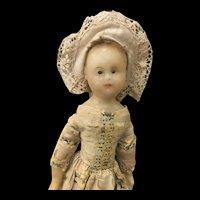 Rare 18th century wax doll