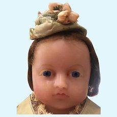 Antique 1870 Pierotti Poured Wax Doll