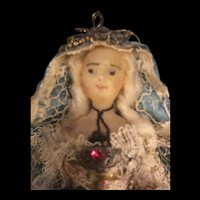 18th Century Wax Madonna Figure