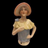Vintage 1920s German Porcelain Half Doll