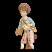 Antique Late 1800s German Bisque Wall Figurine