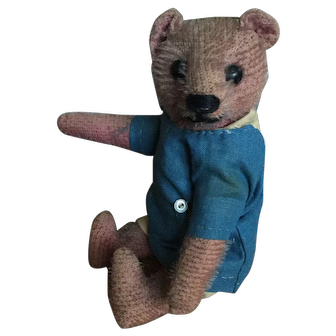 Antique French pink teddy bear