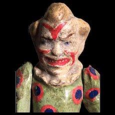 Antique German papier-mâché clown