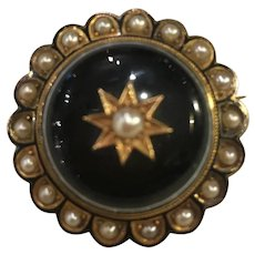 Victorian Rare Agate Hair Mourning Brooch/Pendant/Locket.