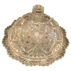 Antique Children's Miniature Glass Butter dish