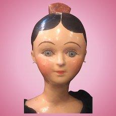 Folk art paper mache doll