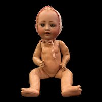 German Bisque Character Baby by Louis Wolf
