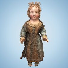 Early continental saint figure in the doll style