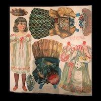 """Antique 8.5"""" """"Celie"""" McLoughlin Bros 1900 Paper Doll"""
