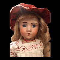 Rare Antique French Character Doll Resembling A. Marque
