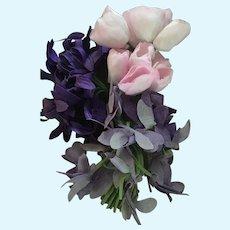 Vintage Silk Flower Nosegay