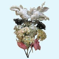 Vintage French Silk Flower Nosegay