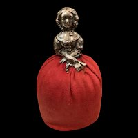 Victorian English Sterling Silver Half Doll/Pincushion