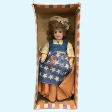 """French bisque Miniature """" Betsy Ross"""""""